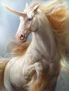 ArtStation - Unicorn Designs, Antonio J. Manzanedo - A. Unicorn And Fairies, Unicorn Fantasy, Unicorn Horse, Unicorn Art, Fantasy Art, Mythical Creatures Art, Mythological Creatures, Magical Creatures, Fantasy Creatures