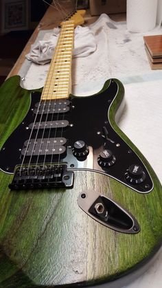 The Firewood Meloncaster -- nearly complete, lacking only a setup and headstock decal.