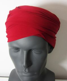 Men-Red EZ PZ Turban Wrap For Short Hair Or Bald Head One | Etsy