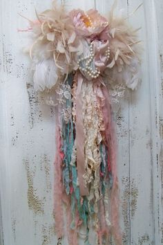 Shabby chic feathered wings muted soft colors by AnitaSperoDesign, $175.00