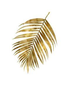 size: Giclee Print: Gold Palm I by Melonie Miller : This exceptional art print was made using a sophisticated giclée printing process, which deliver pure, rich color and remarkable detail. Leaf Design, Glass Design, Tapete Gold, Gold Feathers, Feather Art, Wallpaper Samples, Leaf Art, Illustrations And Posters, Cute Wallpapers