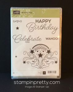 Birthday Blast stamp set.  Mary Fish, Stampin' Up! Demonstrator.  1000+ StampinUp & SUO card ideas.  Read more http://stampinpretty.com/2016/12/rosanne-12-1.html