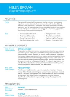 accent cv resume design blue from hashtag cv