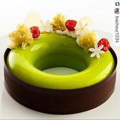 #Repost @bachour1234 with @repostapp Pistachio Raspberry Entremet photo by…