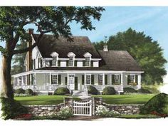 Home Plans HOMEPW26759 - 2,842 Square Feet, 4 Bedroom 3 Bathroom Farmhouse Home with 2 Garage Bays
