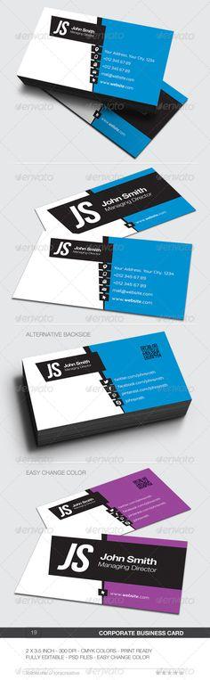 Corporate Business Card - 19 - Corporate Business Cards