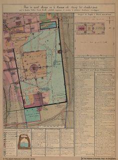 Plan du Mont Morija ou le Haram ech-Cherif des Arabes, 1888. (Map of Mount Moriah or the Haram esh-Sharif Arabs)