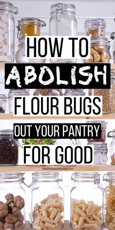 Got Flour bugs in your pantry? These tips will show you how to get rid of flour bugs (weevils) in your pantry and things you can do to prevent flour bugs in the first place. Insects In Flour, Diy Cleaning Products, Cleaning Tips, Cleaning Supplies, Bug Spray Recipe, Pantry List, Long Term Food Storage, Survival Food, Cleaners Homemade