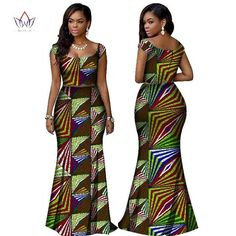 Image of BRW 2017 African Print Two Piece Set Dashiki African Clothes for Women Bazin Square Collar Sleeveless Crop Skirt and Top Best African Dresses, African Fashion Ankara, African Traditional Dresses, Latest African Fashion Dresses, African Print Dresses, African Print Fashion, Africa Fashion, African Attire, African Wear