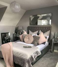32 Interesting Cute And Girly Pink Bedroom Design For Your Home. Girls bedroom designs can really show off who your daughter is and who she wants to be. It a chance to experiment with design and just have fun. Girls bedroom designs can really show off who Pink Bedroom Design, Girl Bedroom Designs, Room Ideas Bedroom, Bedroom Colors, Home Decor Bedroom, Master Bedroom, Gray Bedroom, Bedroom Themes, Bedroom Art