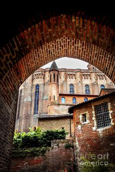 Cathedral of Ste-Ceclile in Albi, France fine art photography print - Copyright © Elena Elisseeva France Photography, Fine Art Photography, Albi France, Ste Cecile, Ville Rose, Gallery Wall Layout, Toulouse France, French Country, Landscape