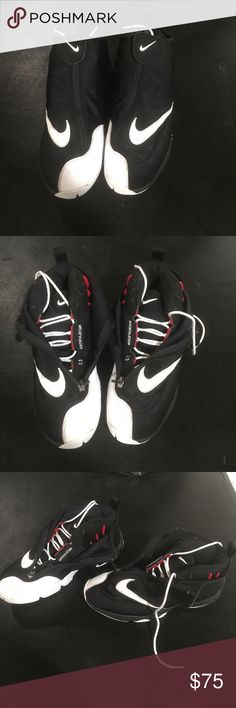 0043f024c5a Air zoom flight the glove Gary Payton size 10 Black white and red Nike Air  glove with zipper Nike Shoes Athletic Shoes