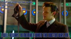 9,10,11 Doctor Wallpapers | Doctor Who Wallpaper of Matt Smith with show quote.