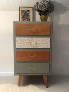 DIY Möbel Vintage piece of furniture renews furniture restoration lilibroc Refurbished Furniture, Upcycled Furniture, Furniture Projects, Furniture Makeover, Vintage Furniture, Furniture Decor, Painted Furniture, Fireplace Furniture, Wood Home Decor