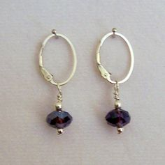 NEW  DangleZ  Purple Crystals in Sterling Silver by 1BeadUnlimited, $7.00