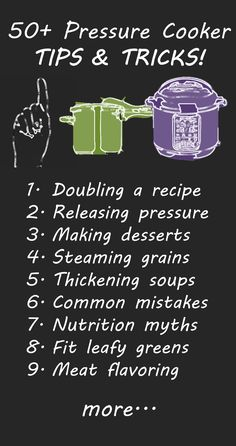 50+ Pressure Cooker Tips & Tricks