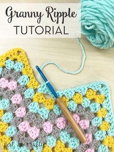 Granny Ripple Tutorial by Just Be Crafty