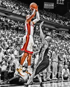 Ray Allen of the @Miami HEAT vs the @San Antonio Spurs in Game 6 of the 2013 NBA finals. Starting at $99, this art piece is available in fine art print and canvases at rareink.com