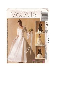 Wedding Gown Brides Dress McCall's Sewing by AdeleBeeAnnPatterns, $12.00