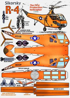 Sikorsky helicopter paper craft