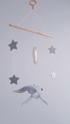 Whale baby crib mobile  When purchasing, you can choose the color of the whale.  Size -Mobile height 22 inches (57cm) -Wooden stick 10 inches (25 cm) -Whale 10 inches (25 cm) -Moon 4 inches (10 cm)
