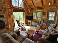 Vacation in Northwoods executive style and comfort at Cajun's Cove a beautiful vacation home rental on Lake Namakagon in Cable, Wisconsin only 20 miles from Hayward, WI. Vacation Home Rentals, Bedroom Loft, Full Bath, Square Feet, Cabin, House Styles, Interior, Home Decor, Decoration Home