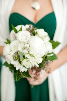 Photography: Katelyn James Photography - katelynjames.com   Read More on SMP: http://www.stylemepretty.com/2014/02/28/emerald-green-winter-wedding/