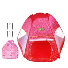 Kids Authority Pink Butterflies Pop Up House Indoor/Outdoor Play Tent For KIDS - Pink / XXL by Kids Authority. $59.95. Perfect for every little girl, the Pink Butterflies Pop Up House provides a secret getaway from adults. This pretty hot pink tent has six sides, each with netting to let the sunshine in, including a white netted door. The outside of the tent is decorated with white swirls, pink hearts, white stars, and pink butterflies. Great for at-home entertainmen...