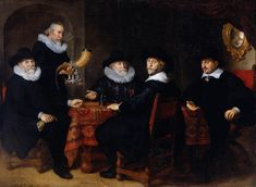 flinck - Four Governors of the Arquebusiers Civic Guard, Amsterdam. 1642. Oil on canvas. 203 x 278 cm. Rijksmuseum, Amsterdam, Netherlands