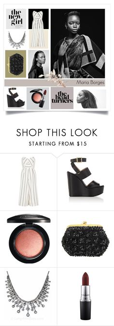 """""""Maria Boges //"""" by odeussing ❤ liked on Polyvore featuring River Island, Chloé and MAC Cosmetics"""