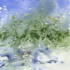 GRISAZUR: Acuarela sobre papel, 20x20 cm.Jul. 11, 2015