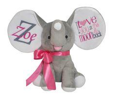 Personalized Stuffed Animal Dumble Elephant I by ReneesEmbroidery