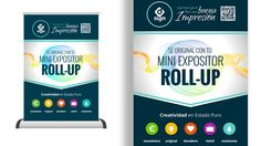 Diseño e impresión de Roll-Up Mini tamaño A3 para D·SIGN