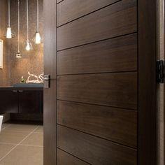 "Las Vegas casera moderna - TruStile Colección Puerta Moderna - TM13000 en Walnut con 1/4 ""corte corte revelan."