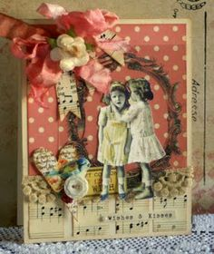 Card using October Afternoon 5 & Dime Collection and Crafty Secrets images