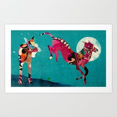 dogs Art Print by Alvaro Tapia Hidalgo - $21.00