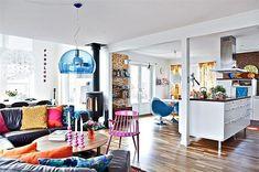 Colorful nórdic retro chic house, Love Love Love!