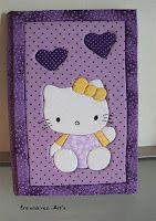 Hello Kitty: Caderno de patch no isopor
