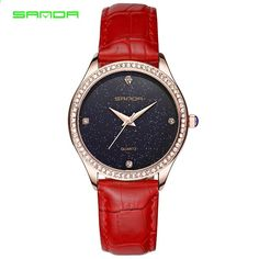 Sanda Women 2018 Top značky hodinky Módní luxusní dámy Jednoduché hodiny  Ženy Classic Quartz Náramkové hodinky 47bcc7e65e2