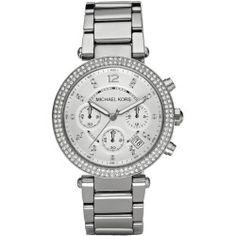 Ladies' Michael Kors Parker Silver-Tone Crystal Watch