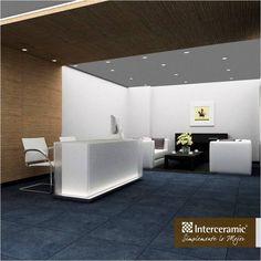La #recepción es la #tarjeta de presentación de cualquier #empresa, lúcete con la propuesta de las líneas Osaka y Slim de #Interceramic. #Interiores #Oficina