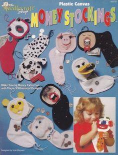 Money-Stockings-Plastic-Canvas-Pattern-TNS-933721-Bunny-Duck-Fish-More-Banks