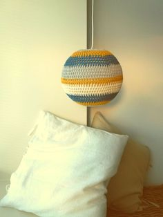 Filet crochet lamp, made by me :-) ♪ ♪ ... #inspiration_crochet #diy GB