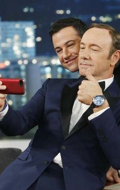 Kevin Spacey with Jimmy Kimmel Kevin Spacey, I Still Love You, My Crush, Daddy, Stripes, Hollywood, Icons, Guys, Stars