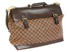 BAG,  LOUIS VUITTON,  West End Weekend,   Dasmier Ebene, 45x35x 20cm, detachable shoulder strap, dustbag.