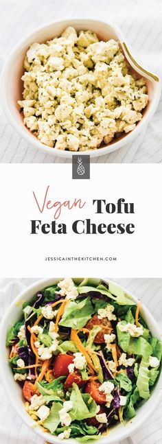 This Vegan Tofu Feta Cheese is a perfect vegan replacement for feta cheese! Add … This Vegan Tofu Feta Cheese is a perfect vegan replacement for feta cheese! Add it to your salads, sandwiches and anywhere you'd add feta cheese! Vegan Cheese Substitute, Vegan Feta Cheese, Vegan Cheese Recipes, Tofu Recipes, Vegan Foods, Vegan Dishes, Whole Food Recipes, Vegetarian Recipes, Vegan Meals
