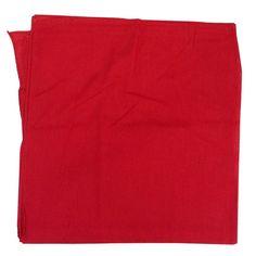 "Red Solid Bandana 27"" x 27"""