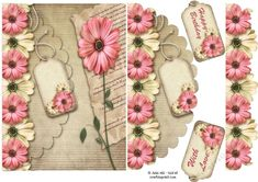 Floral elegance yellows and pinks mock envelope card 3d Sheets, Shaped Cards, Envelopes, Decoupage, Card Making, Pastel, Shapes, Elegant, Yellow