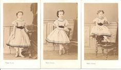 three girls in matching dresses