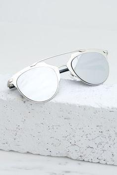Skylar Reflective Sunglasses - Silver